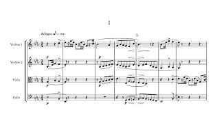 String Quartet No 1:  III Mov.: Scherzo, Allegro moderato
