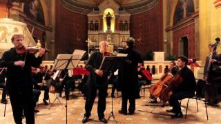 Concerto for 2 violins & orchestra in a-minor, RV 522, II Movt