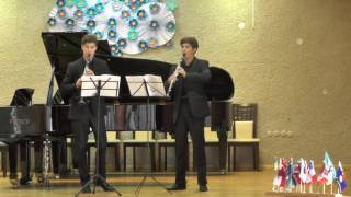Clarinet duo No.2 in D-minor