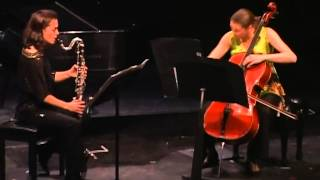 Capriole for bass clarinet and cello